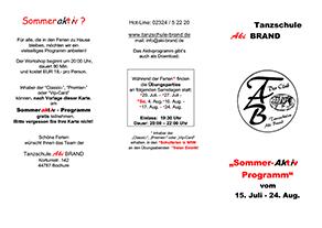 Sommer-Aktiv-Programm 2019